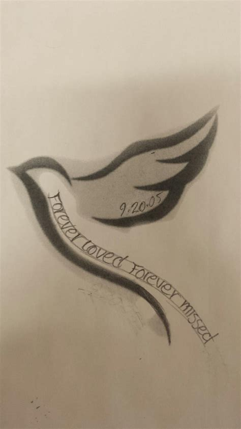 tattoo designs for loved ones hide dates in the wknd for each lost loved one