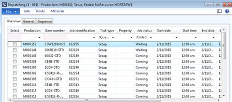 Dispatching In Shop Floor - operation scheduling can create microsoft