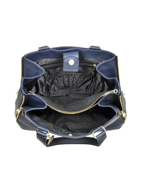 Navy Blue Leather by Lyst Dkny Tribeca Large Navy Blue Leather Tote Bag In Blue