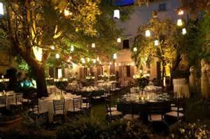Outdoor Cafe Lights Destination Wedding Castle In Tuscany 121