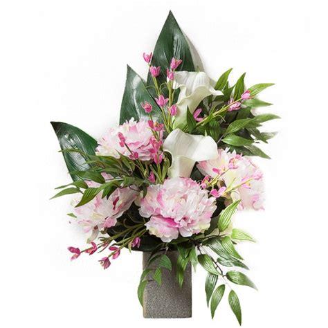 fiori calle bianche mazzo di calle bianche e peonie rosa in plastica con