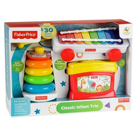 fisher price 174 classic infant trio gift set target