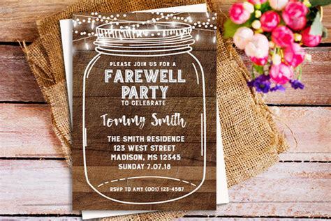 free farewell invitation card template 28 farewell invitation template free sle exle