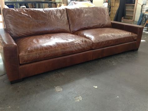 Braxton Leather Sofa by 9ft Braxton Cushion Leather Sofa In Brompton Classic