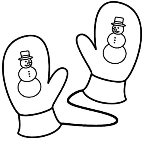 mitten coloring page best photos of pair of mittens coloring page winter
