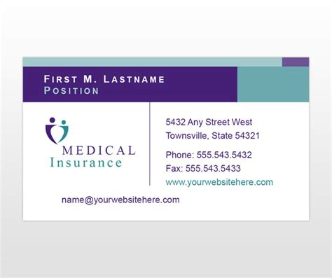 Insurance Company Health Insurance Company By Size Insurance Business Card Templates