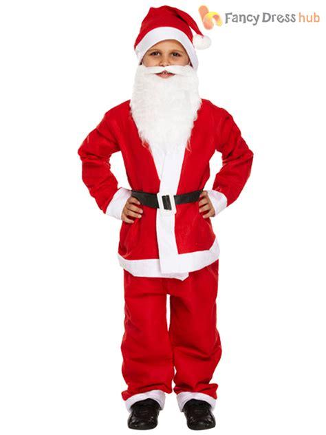 Dress Santa Kidos santa suit beard fancy dress boys