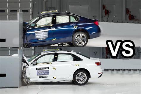 Audi A4 Crashtest by 2017 Audi A4 Vs 2016 Bmw 3 Series Crash Test Youtube