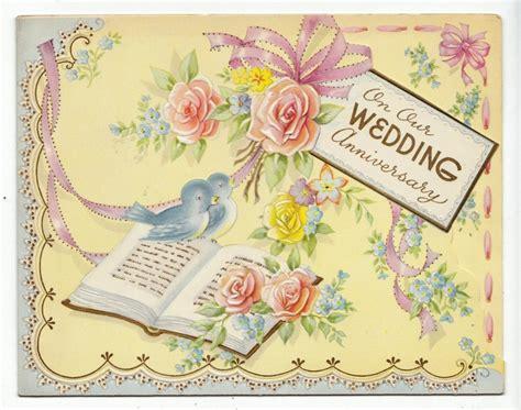 Wedding Anniversary Vintage by Vintage Wedding Anniversary Card Birds