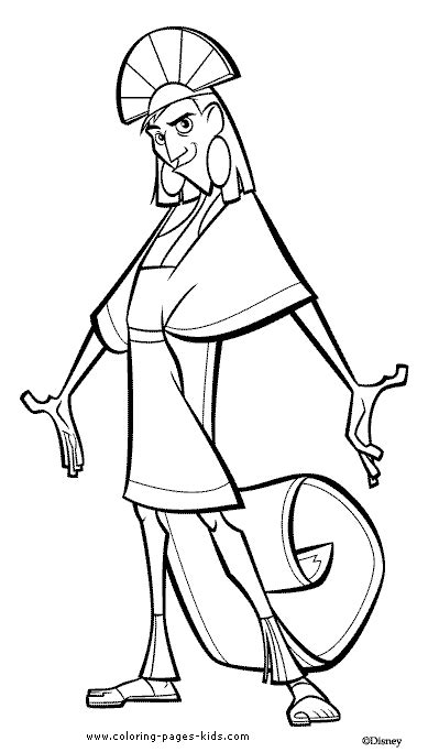 emperor coloring pages emperors new groove coloring pages getcoloringpages