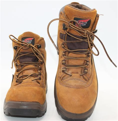 wing shoes work boots wing s brown leather steel toe waterproof work