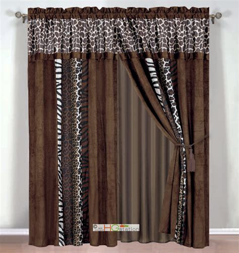 faux fur curtains 4 p faux fur giraffe zebra leopard jaguar tiger curtain