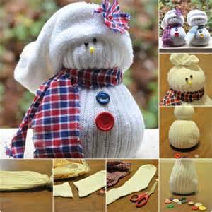 And cute winter decoration charming diy sock snowmen diy amp crafts