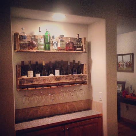 Does Liquor A Shelf by Rustic Wine Rack Liquor Shelf W Glass Holder