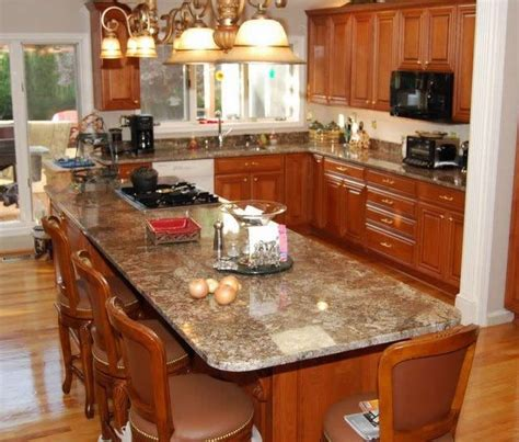 granite top kitchen island with seating extended top on island for additional seating great