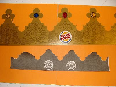 Burger King Crown Template and cakes the of a crown