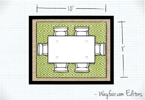Dining Room Rug Dimensions How To Choose A Rug Size Wayfair