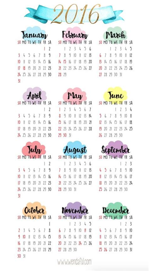 free printable planner 2016 personal size 17 best ideas about 2016 calendar on pinterest free