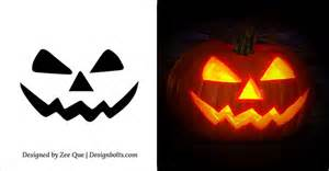 5 easy yet simple halloween pumpkin carving patterns
