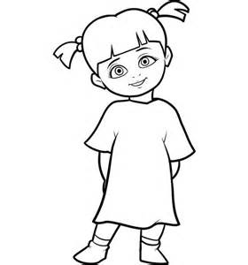 character little boo monster inc coloring pages