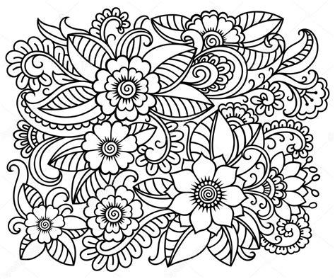 imagenes en blanco para colorear de flores doodle el patr 243 n en blanco y negro patr 243 n de flores para
