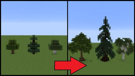 how to make small trees minecraft how to make better trees