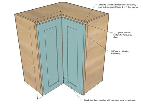 Corner Kitchen Cabinet Plans by Ana White Wall Corner Pie Cut Kitchen Cabinet Diy Projects