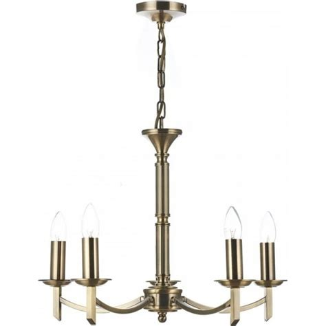 5 Light Ceiling Fitting by Dar Lighting Ambassador 5 Light Ceiling Fitting In Antique