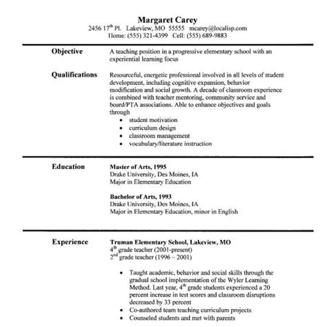 Sle Elementary Resume by Economic Resume Sales Lewesmr