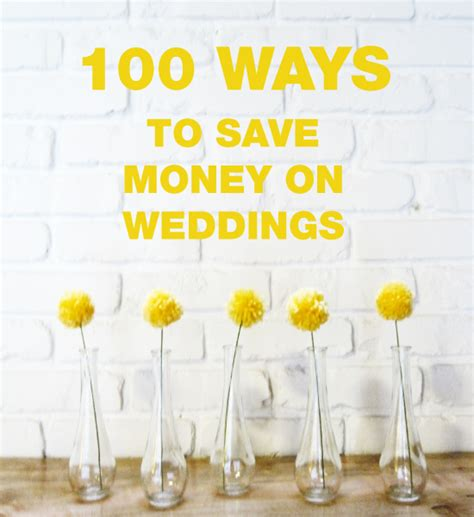 How To Save Money On A Wedding by The Canopy Artsy Weddings Weddings