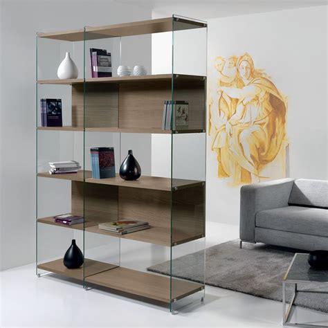 libreria in vetro byblos libreria in vetro trasparente con ripiani