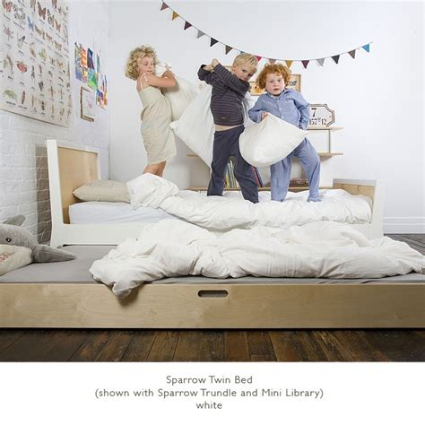 oeuf sparrow bed oeuf sparrow bed with trundle option the century
