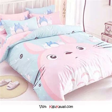 kawaii bedding so cute pink totoro bed ω follow kigu kawaii for more