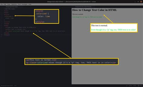 how to change text color in html how to change text color in html