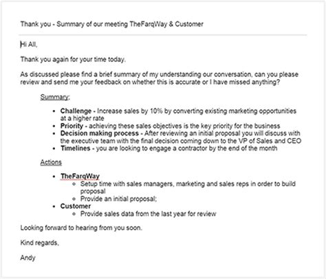 thank you letter after product presentation the ultimate guide on how to write a follow up email