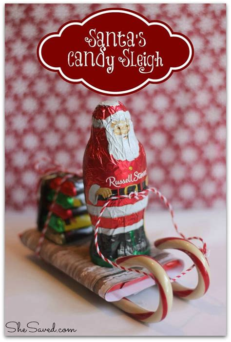 santa candy sleigh christmas craft shesaved 174