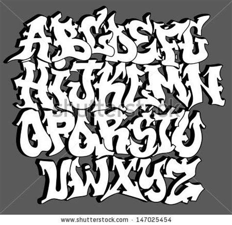 beautiful graffiti font design vector graffitie graffiti font