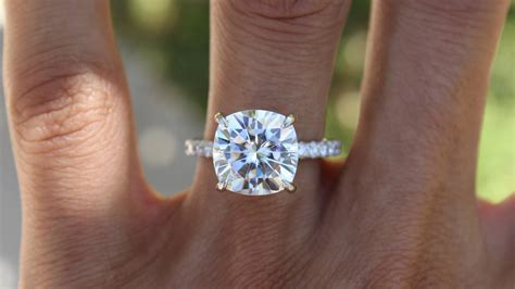 Prince Gets A 5 Carat by Is A 5 Carat Cushion Moissanite Is Big Show Me Yours
