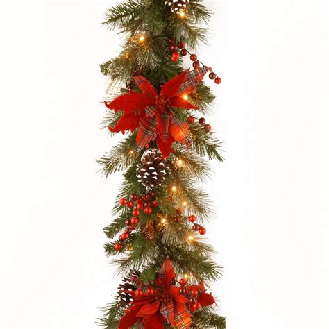 home accents holiday 9 ft led pre lit nature inspired