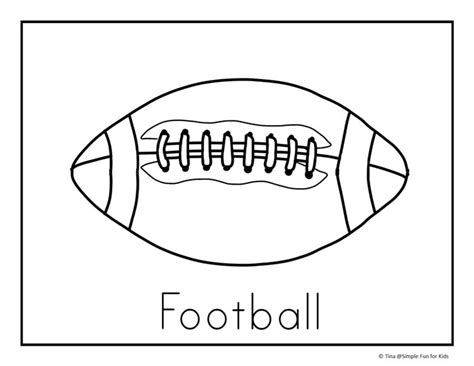 Football Coloring Page Pdf | football coloring pages simple fun for kids