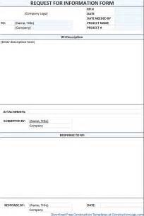 Rfi Forms Template by Doc 7681024 Construction Form Templates Construction