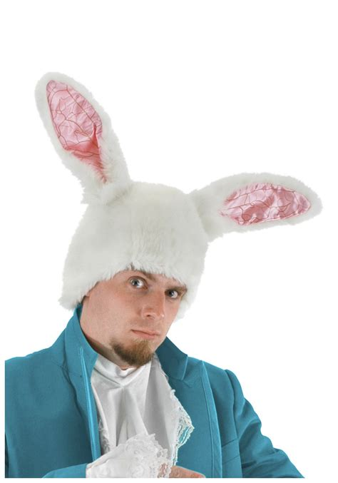 Rabbit Ear Hat white rabbit ears hat