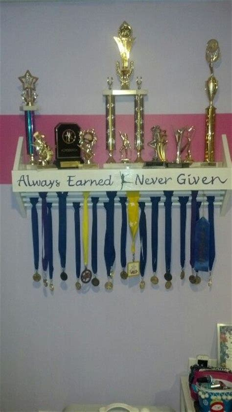 Gymnastics Trophy And Medal Shelf by 25 Best Ideas About Trophy Display On