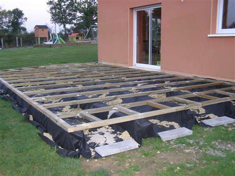 terrasse en composite sur sol meuble