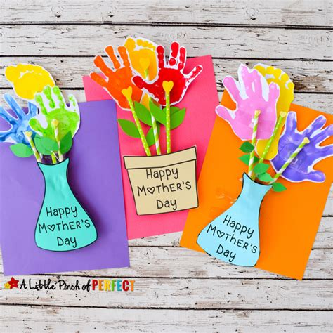 s day card arts and crafts template adorable s day handprint flower craft and free