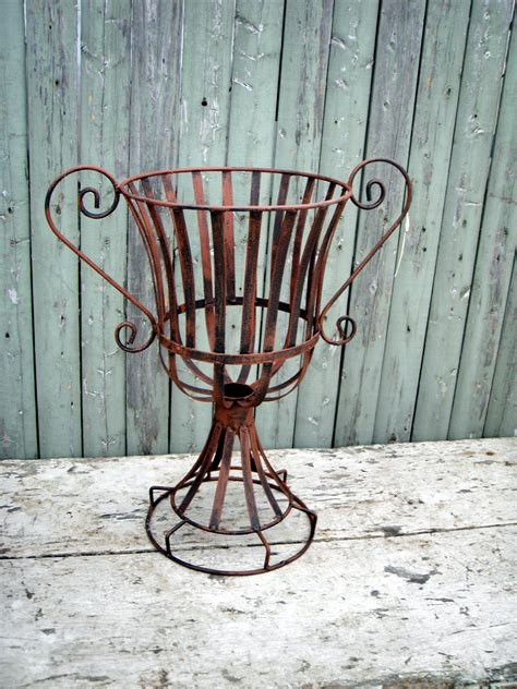 wrought iron planter wrought iron 19 quot urn with handles planter