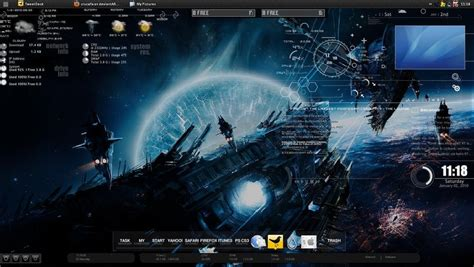 pc themes deviantart my rainmeter desktop by crucafix on deviantart