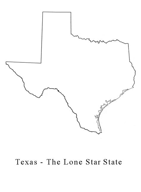 texas map blank outline of the state of texas cliparts co