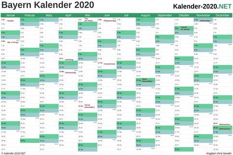 kalender  bayern