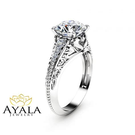 2 Carat Ring by 2 Carat Custom Ring In 14k White Gold Unique